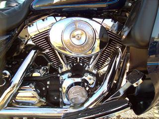 Motor van een Harley-Davidson